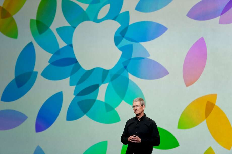 Tim Cook, chief executive officer of Apple Inc., speaks during a press event at the Yerba Buena Center in San Francisco, California, U.S., on Tuesday, Oct. 22, 2013. Apple Inc. is expected to debut a high-definition iPad mini and a thinner iPad at a San Francisco event today, people with knowledge of the plans have said. Photo: Noah Berger, Bloomberg