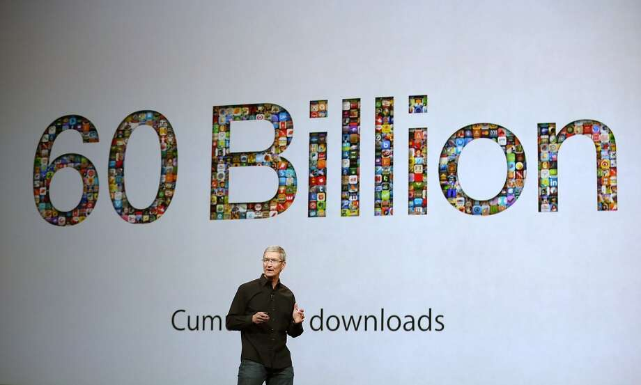Tim Cook speaks during an Apple announcement at the Yerba Buena Center for the Arts on October 22, 2013 in San Francisco, California. The tech giant is expected to announce its new iPad 5, iPad mini 2, OS X Mavericks and possibly a new retina MacBook Pro. Photo: Justin Sullivan, Getty Images