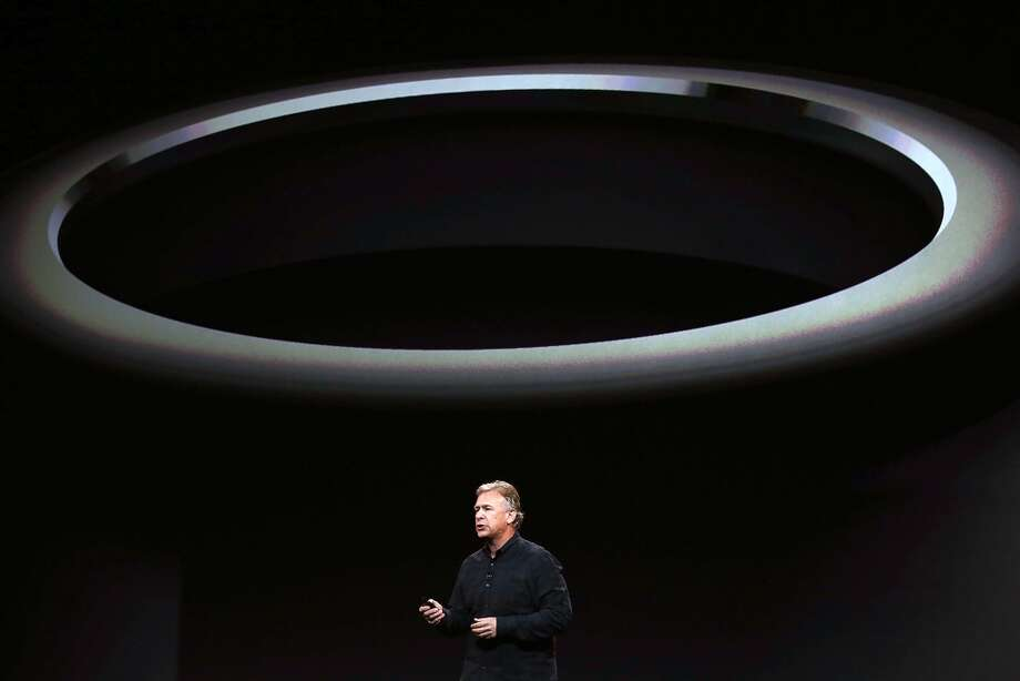 Apple Senior Vice President of Worldwide Marketing Phil Schiller announces the new Mac Pro during an Apple announcement at the Yerba Buena Center for the Arts on October 22, 2013 in San Francisco, California. The tech giant is expected to announce its new iPad 5, iPad mini 2, OS X Mavericks and possibly a new retina MacBook Pro. Photo: Justin Sullivan, Getty Images