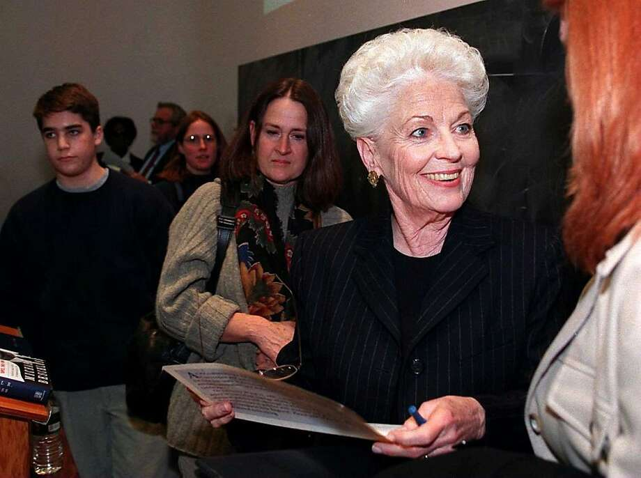 "10. Ann Richards: ""The beautiful silver  white short hair with a masculine edge made this Texas woman  stand leaps and bounds above all."" Photo: Tom Herde, Boston Globe 1998"