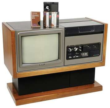 1975 SONY TRINITRON LV1901 BETAMAX TV 