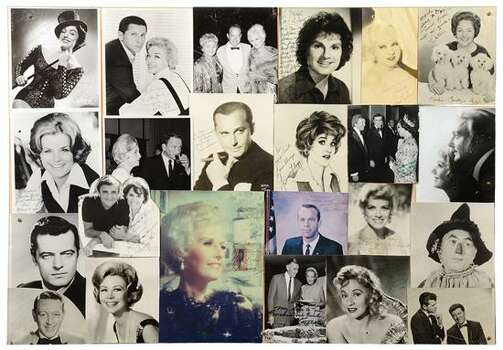 CELEBRITY PHOTO COLLAGE WITH AUTOGRAPHS 