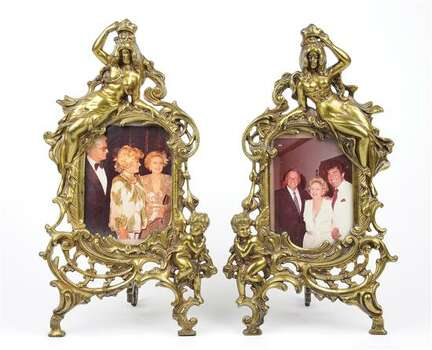 ANTIQUE FRAME PAIR WITH FRANK SINATRA AND PHYLLIS DILLER 
