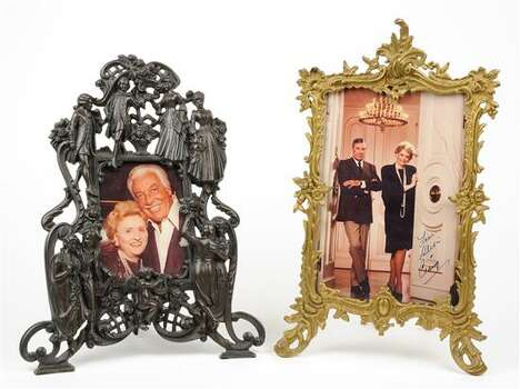 TWO VICTORIAN FRAMES WITH CELEBRITY PHOTOS 