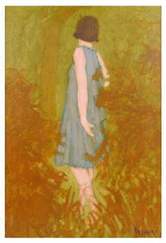 "WILLIAM ANZALONE ""WOMAN IN BLUE DRESS"" (b. 1926) 