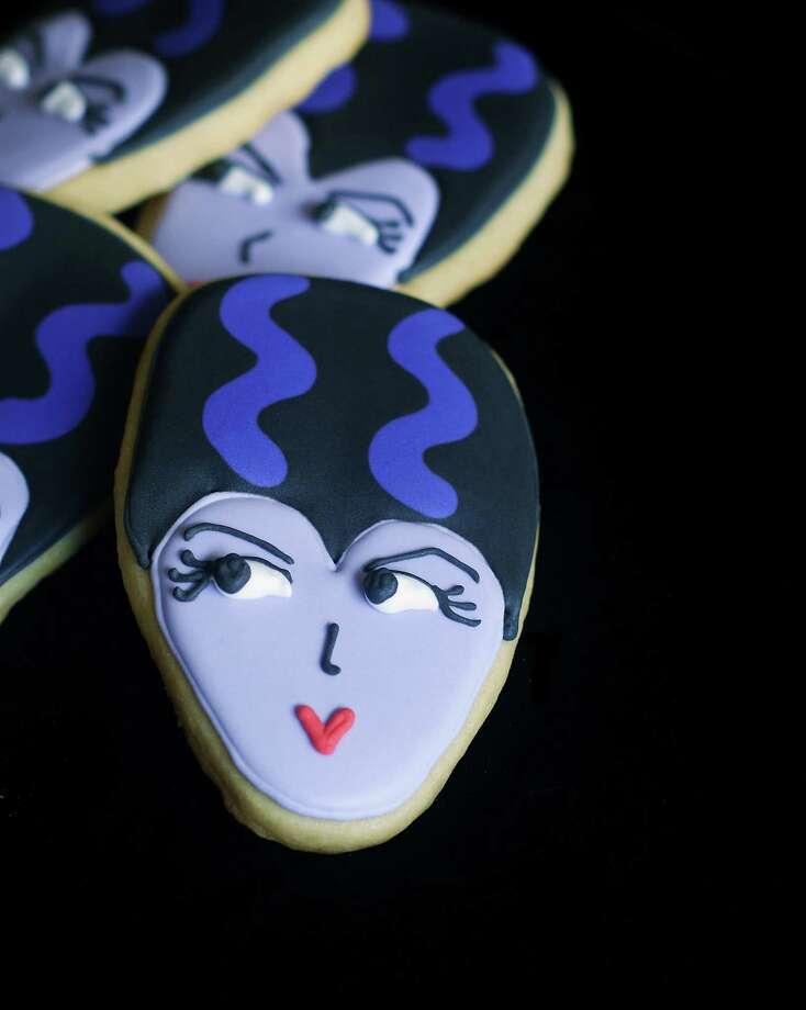 Halloween Bride of Frankenstein cookie by Bridget Edwards of Bake at 350. Photo: ---