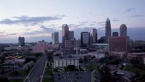A skyline view of Charlotte, N.C., where the 2012 Democratic National Convention is to be held Sept. 4-6.