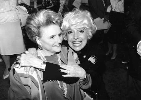 Maxine Mesinger and Carol Channing, March 7, 1992. Photo: Buster Dean, STAFF / Houston Chronicle