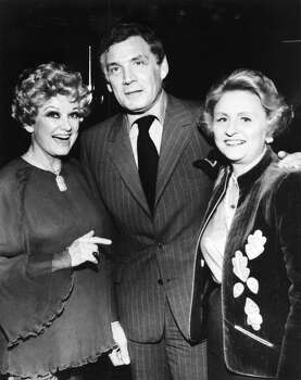 Maxine Mesinger and Phyllis Diller (Left) and actor Gene Barry (Center). Houston Chronicle Files April 2, 1981. / Houston Chronicle