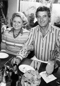 Maxine Mesinger and Rock Hudson shared lunch in February 1979. / Houston Chronicle