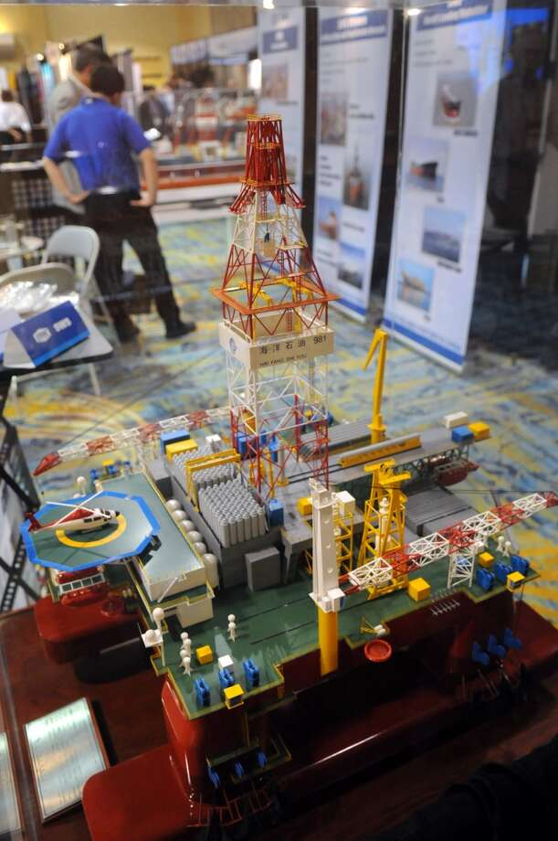 The Deep Offshore Technology International Conference & Exhibition 2013 opened Tuesday at The Woodlands Waterway Marriott Hotel & Convention Center in The Woodlands. Photo: For The Chronicle