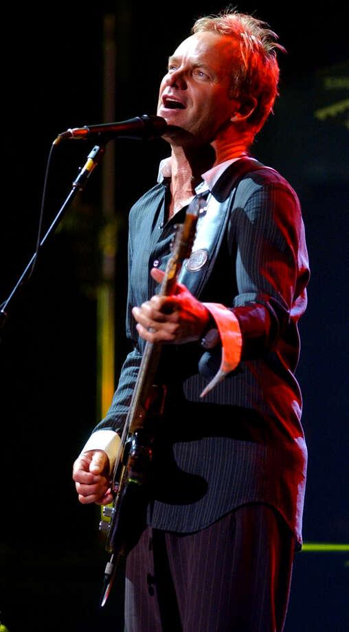 Sting, 2004. Photo: EDWARD A. ORNELAS, San Antonio Express-News / SAN ANTONIO EXPRESS-NEWS