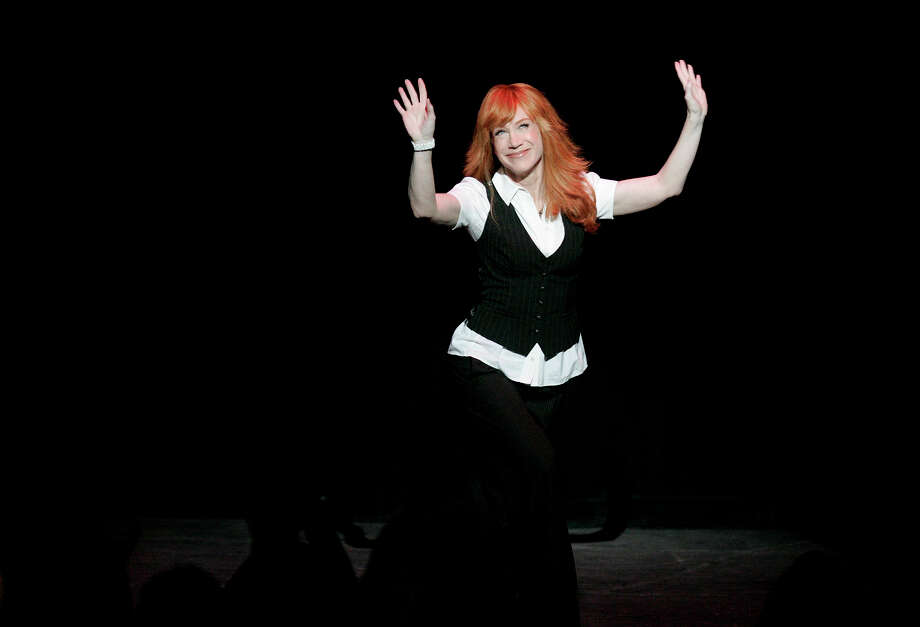 Comedian Kathy Griffin curtsies as she greets the audience upon entering the stage for her performance at the Majestic Theatre in San Antonio back in 2008. Lisa Krantz/lkrantz@express-news.net Photo: LISA KRANTZ, San Antonio Express-News / lkrantz@express-news.net
