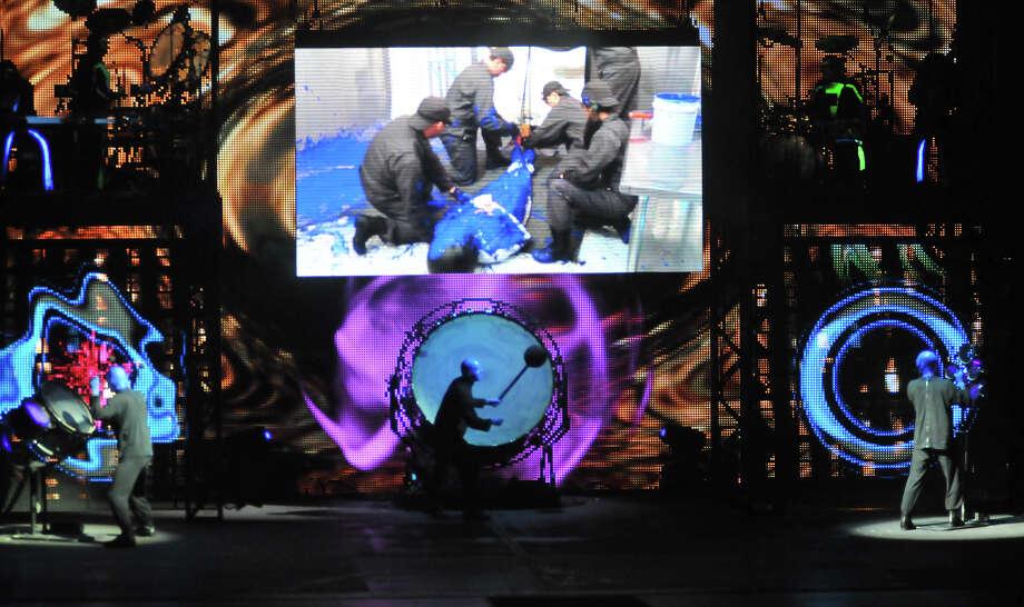 Blue Man Group, 2012. Photo: ROBIN JERSTAD, San Antonio Express-News / SAN ANTONIO EXPRESS-NEWS