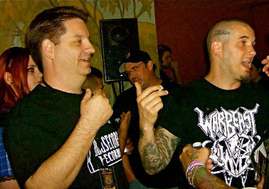 Schertz resident and author Corey Mitchell (left) and heavy metal musician Philip Anselmo have teamed up to bring the first-ever Housecore Horror Film Festival to Austin this weekend. Photo: Courtesy Photo