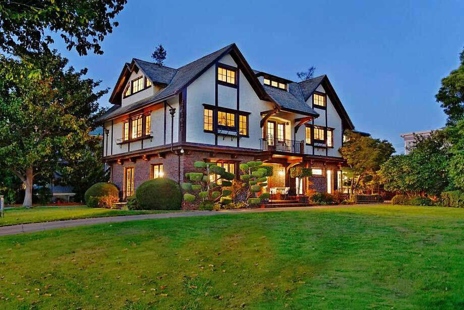 The Alameda Tudor Revival offers three living levels. Photo: Obeo.com