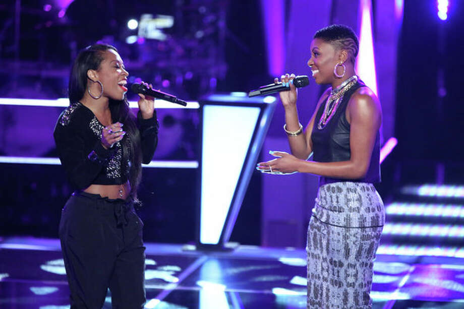 "THE VOICE -- ""Battle Rounds"" -- Pictured: (l-r) Keaira LaShae, Tamara Chauniece -- (Photo by: Tyler Golden/NBC) Photo: NBC, Tyler Golden/NBC / 2013 NBCUniversal Media, LLC"