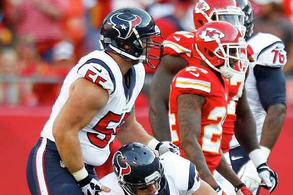 Case Keenum (7) will need better protection if he's going to provide the pick-me-up the Texans desperately need.