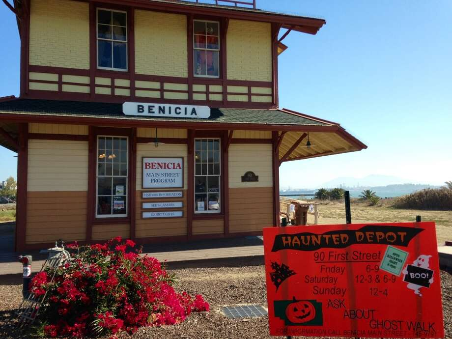 "You can visit the ""Haunted"" Benicia Depot Fridays, Saturdays, and Sundays throughout Halloween. Or you can get a $3 tote bag any old time."