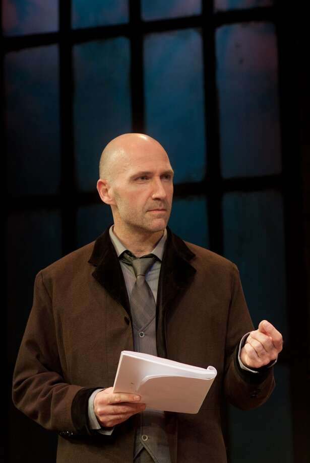 Thomas (Timothy Deenihan) in Venus in Fur at Capital Repertory Theatre, Sept 27 - Oct 20, 2013. Photo: Joe Schuyler, Joe Schuyler