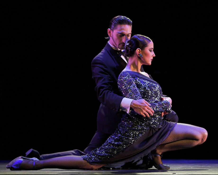 Juan Paulo Horvath and Alejandra Gutty, featured dancers in Luis Bravo's Forever Tango at the Stafford Center September 13 through 15.  Photo Credit: Luis Bravo's Forever Tango / handout email