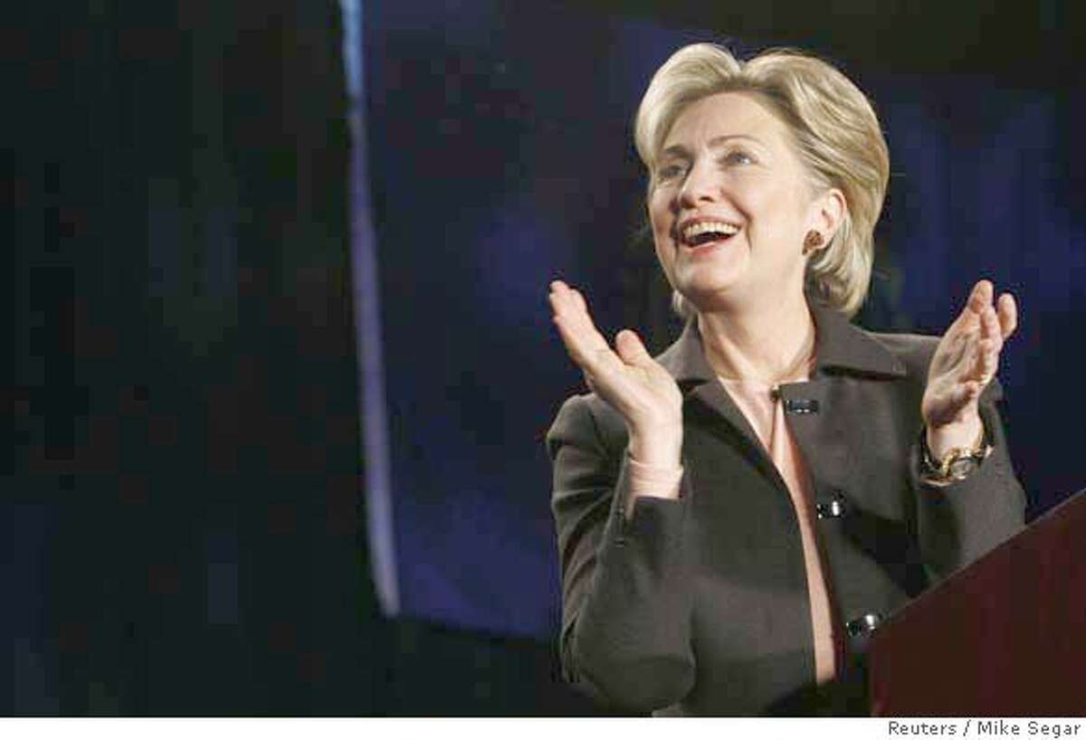 """3. Hillary Clinton: """"Bill's secret weapon - she could change the headlines of the day by simply changing her hair."""""""