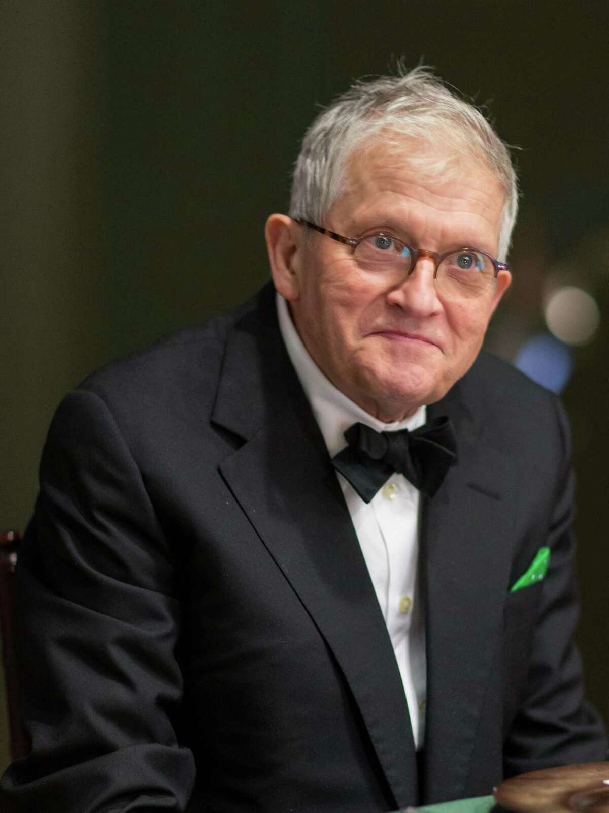 Acclaimed artist David Hockney attends a dinner in his honor on October 22, 2013 to celebrate the opening of his exhibition at the de Young Museum.