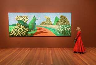 Dede Wilsey hosted the October 22, 2013 event, which celebrated the opening of David Hockney's exhibition at the de Young.