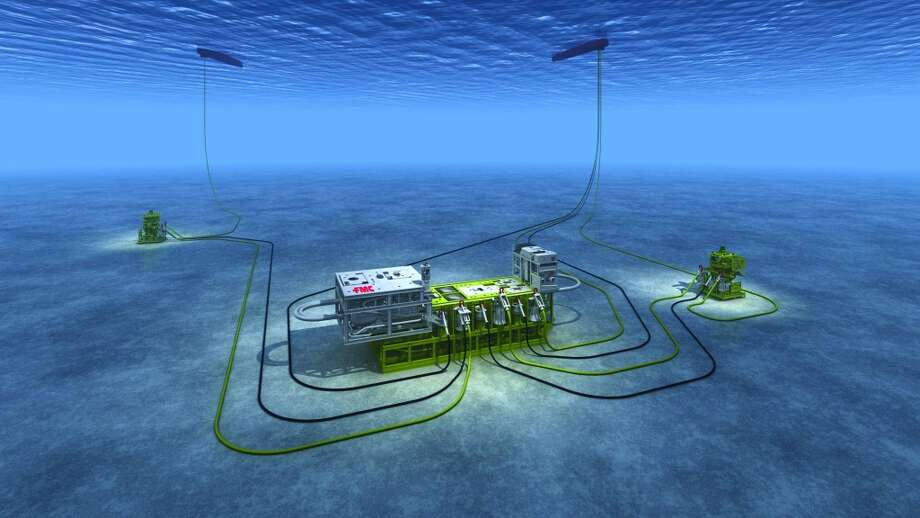 This subsea separation system separates heavy oil, gas, sand and water at a water depth of approximately 2,950 feet. Photo: FMC Technologies