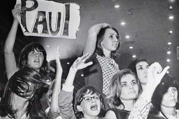 The Beatles performed at the Coliseum in Houston Aug. 19, 1965, and clearly these women were just a little excited.
