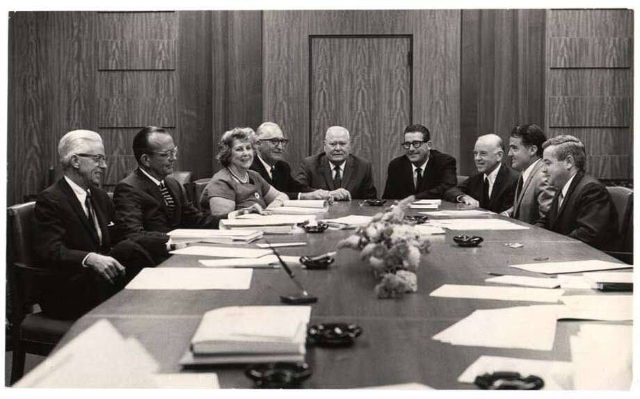 The University of Houston transitioned from a private institution to a member of Texas' higher education system in 1963. Pictured is the university's first Board of Regents. Photo: The University Of Houston / handout email
