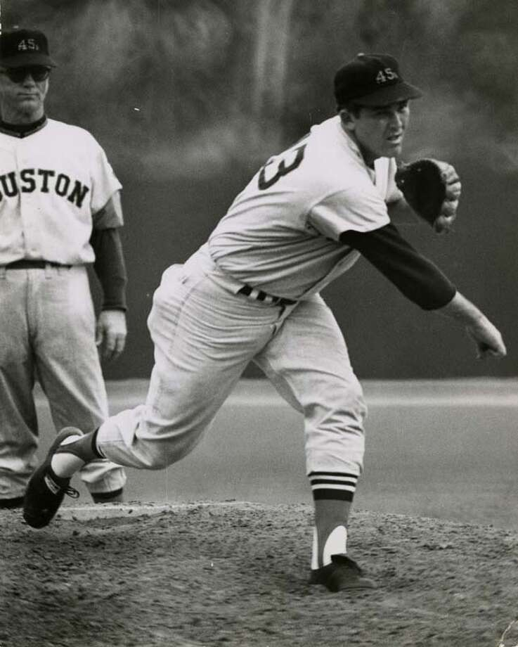 The Houston Colt .45s were renamed the Astros in 1965. The team's first season was in 1962. Pictured is Houston Colt .45s pitcher Don Nottebart on the mound. Photo: Ted Rozumalski, Houston Chronicle / Houston Chronicle