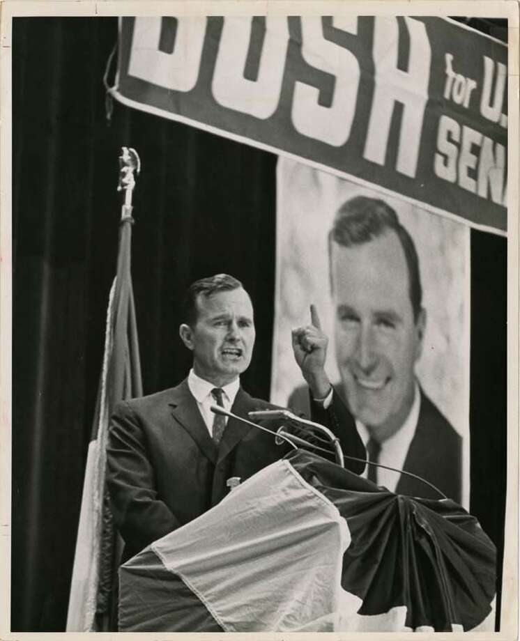 U.S. Senate candidate George Bush officially opens his state-wide campaign at a rally held in the Music Hall in September 1964. Photo: Houston Chronicle / Houston Post files