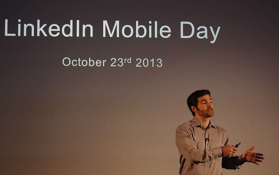 LinkedIn Chief Executive Officer Jeff Weiner says the market is shifting to mobile at high speed. Photo: Lea Suzuki, The Chronicle