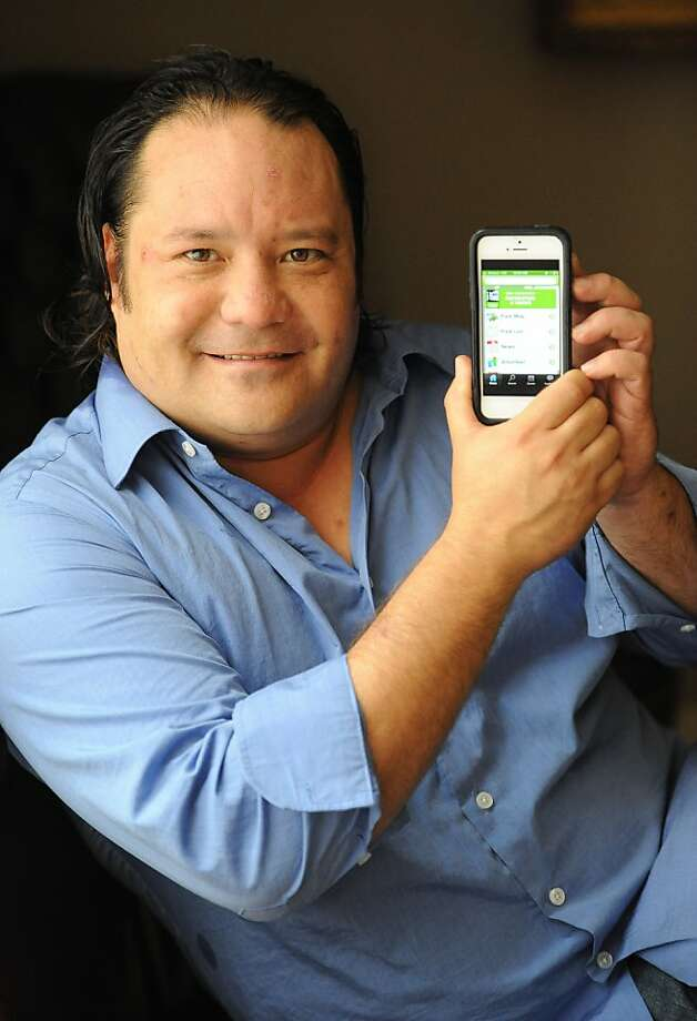 Yo Yoshida, CEO of Appallicious, uses data from city government to develop smartphone apps. Photo: Bates, Susana Freelance, Special To The Chronicle