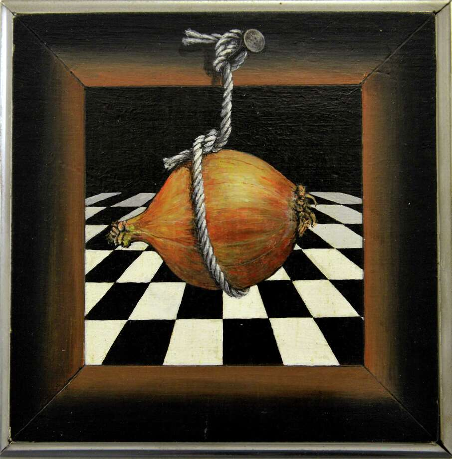 """""""Kamper Onion,"""" by Plonia Nixon, is on view at Western Connecticut State University in Danbury. Photo: Contributed Photo/Peggy Stewart, Contributed Photo / The News-Times Contributed"""