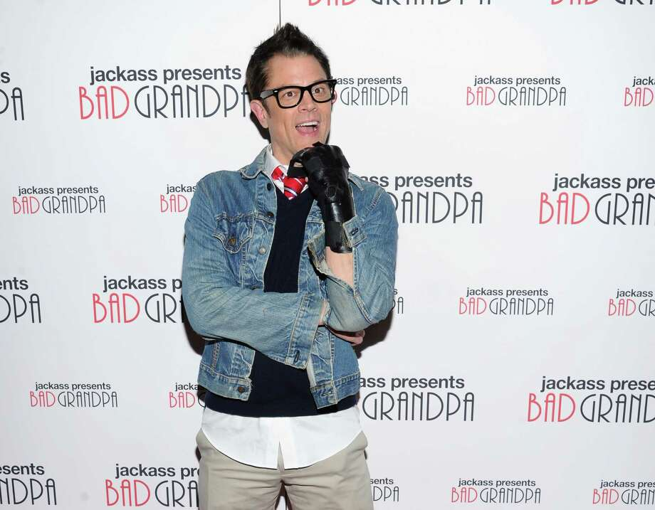 "Actor Johnny Knoxville attends a special screening of ""Jackass Presents: Bad Grandpa"" at the Sunshine Landmark Theater on Monday, Oct. 21, 2013, in New York. (Photo by Evan Agostini/Invision/AP) ORG XMIT: NYEA114 Photo: Evan Agostini / Invision"