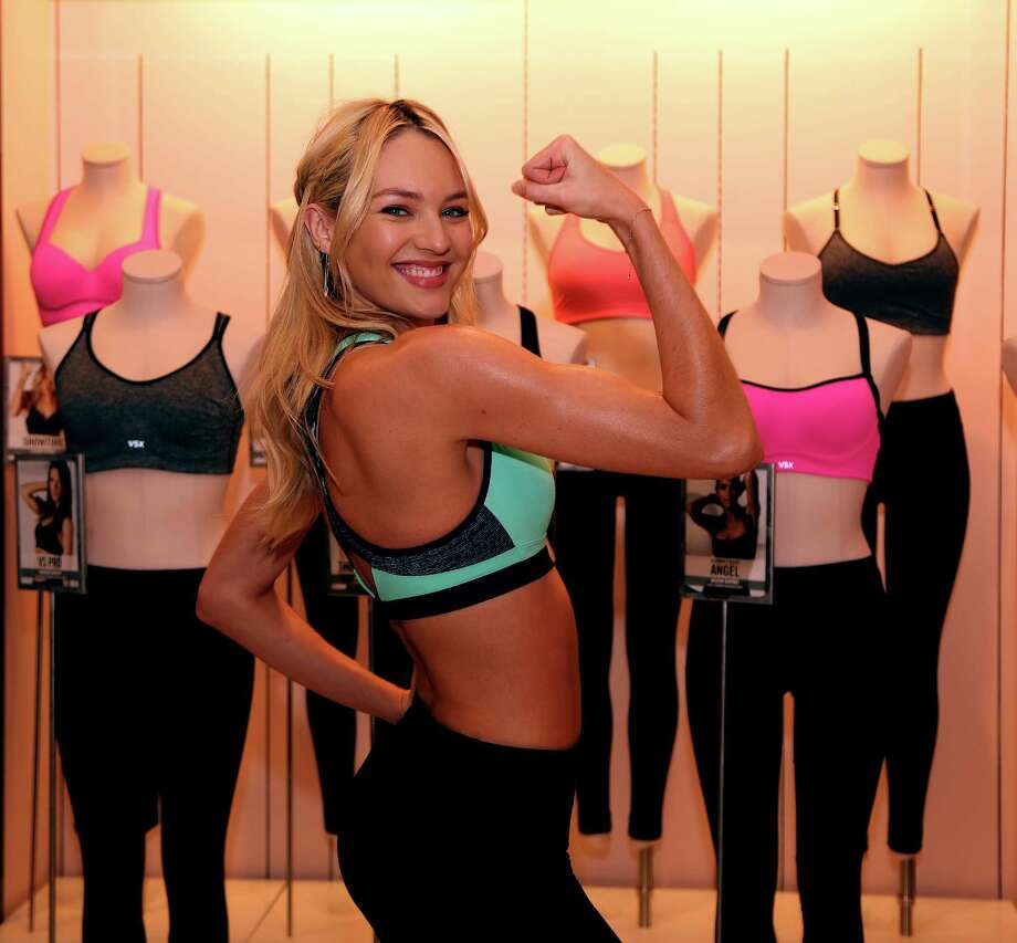 Victoria's Secret model Candice Swanepoel says she does resistance training and boxing to maintain her body. Photo: Karen Warren, Staff / © 2013 Houston Chronicle