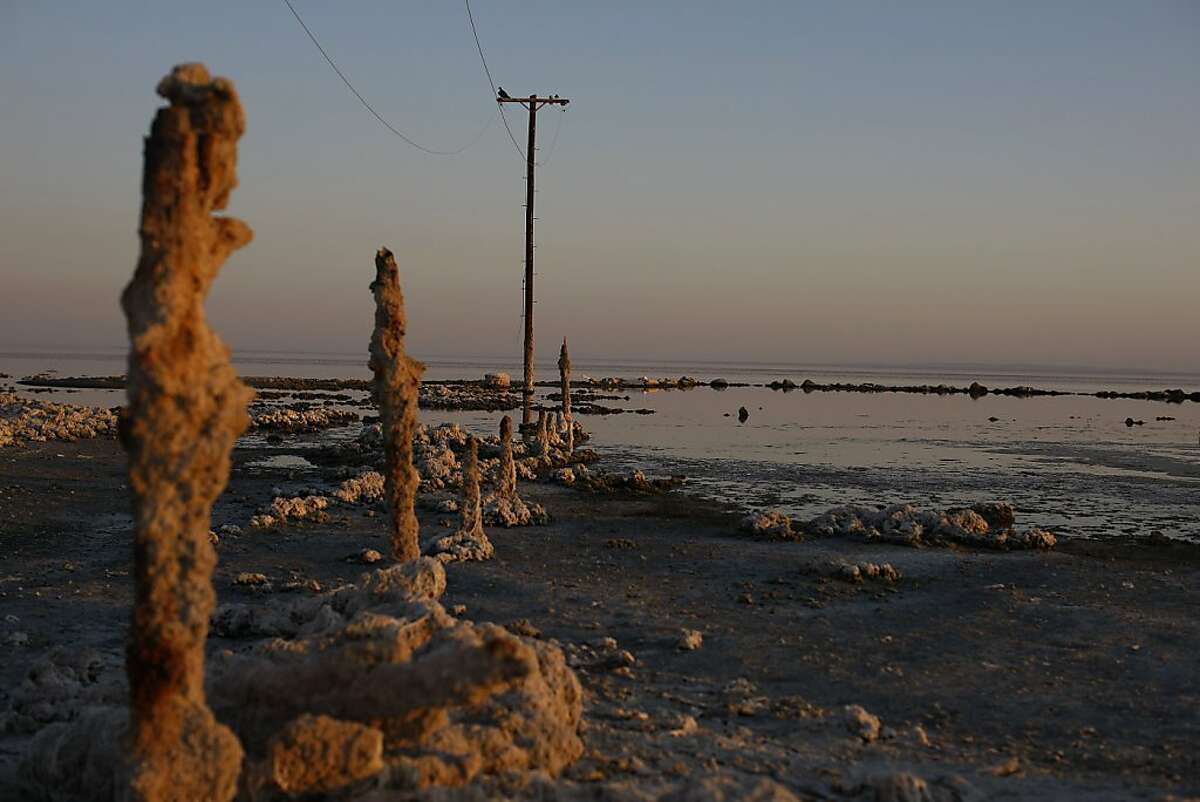 THE SALTON SEA, CA - AUGUST 09: Scenes from the Salton Sea, a inland lake which has currently exists as a result of run off agricultural waste water from the fields of Imperial Valley and the Coachella Valley, August 9 2009.