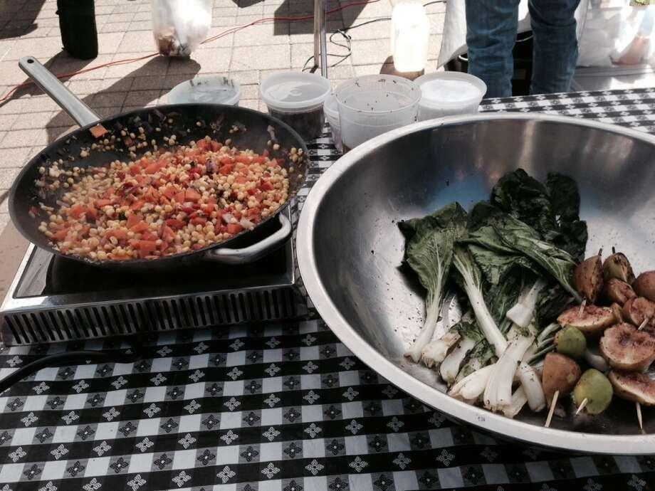Chef Greg Gordon of La Vista works on his dish. Photo: Diane Cowen, Houston Chronicle