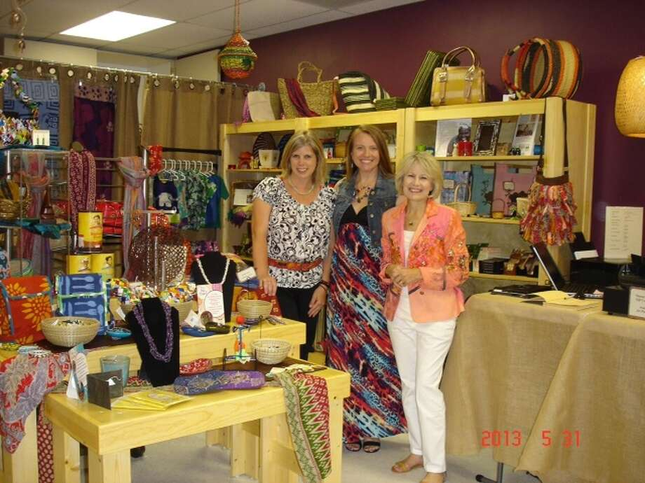 Julie Quinn, from left, Beth Miller and Anne Swetich from the church's Hands of Faith store. Photo: Lord Of Life Lutheran Church Photo