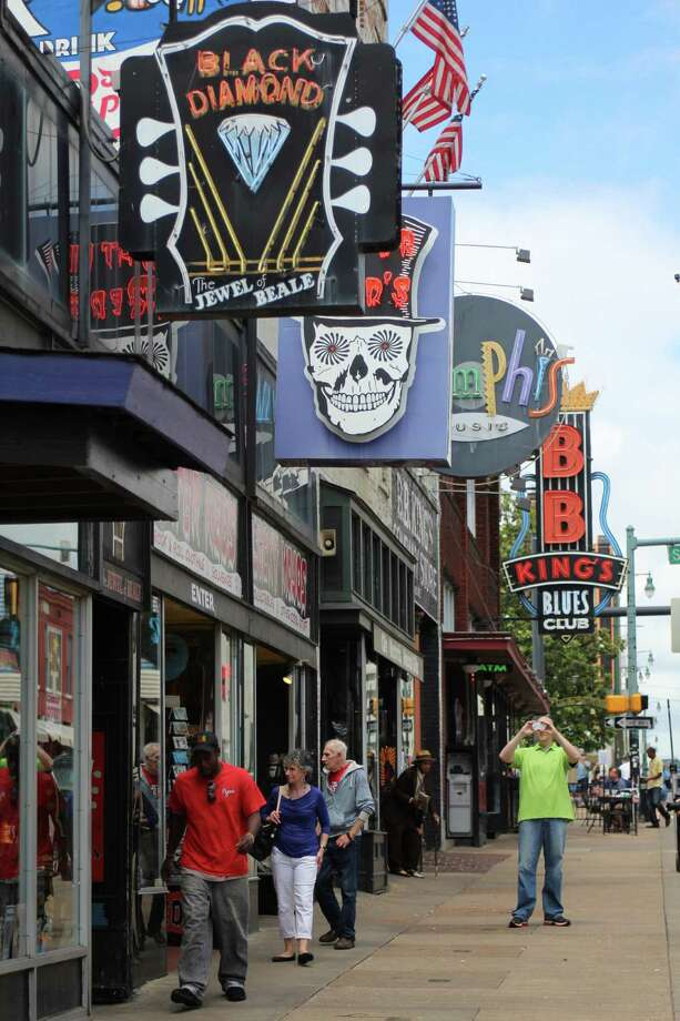 You'll find blues music of one stripe of another along downtown stretch of Beale Street, including at B.B. King's Blues Club. Photo: Spud Hilton / The Chronicle