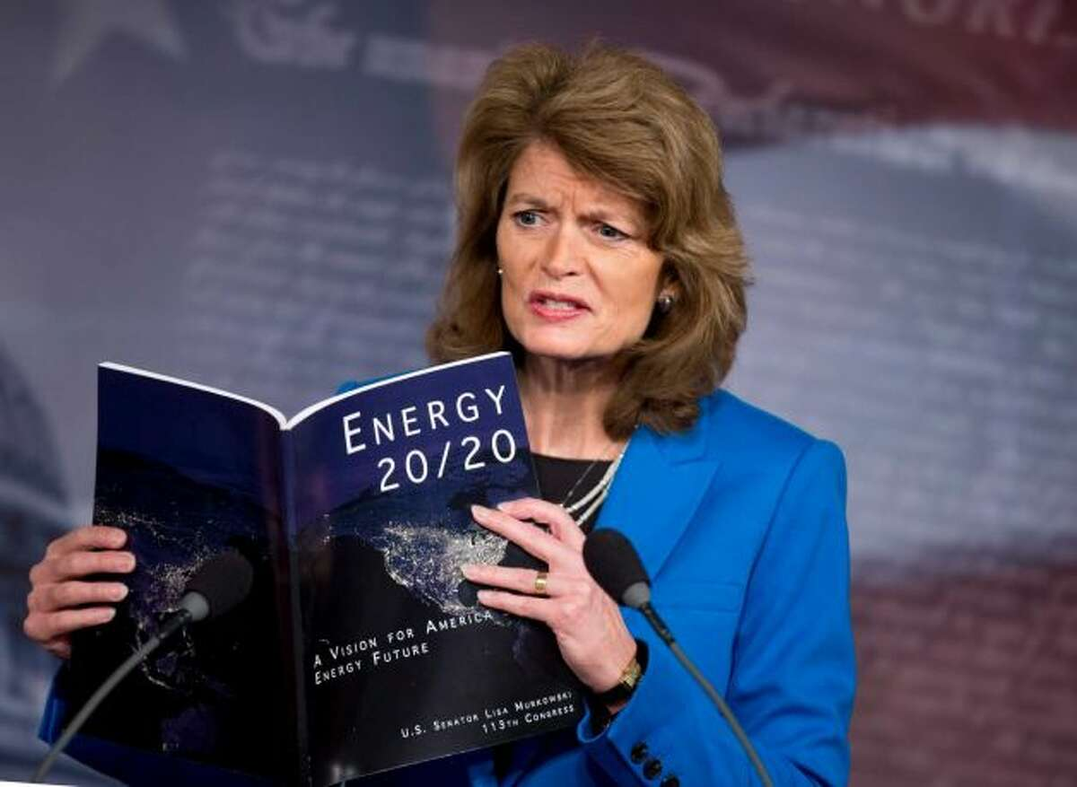 Sen. Lisa Murkowski, R-Alaska: She's for oil drilling and the Keystone XL pipeline.  Sen. Maria Cantwell, D-Wash., champions wind power and conservation.  But the two