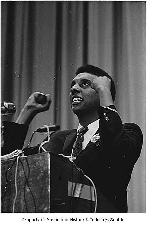 Stokely Carmichael has been among many famous speakers who've appeared at Garfield High School. Carmichael spoke at Garfield in 1967, after the ACLU successfully fought the Seattle School Board to let Carmichael speak there.  Photo: P-I File