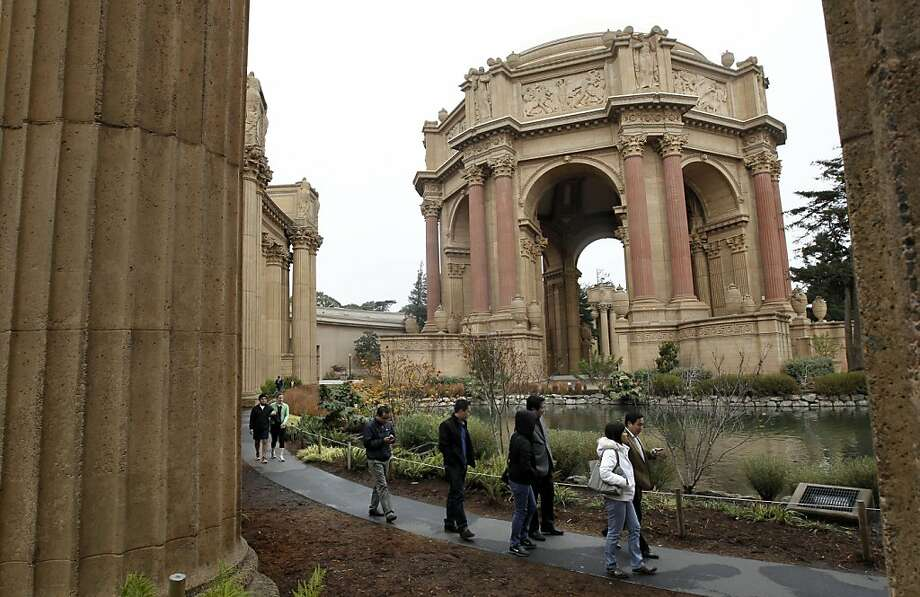 Visitors explore the Palace of Fine Arts, a landmark beloved by San Franciscans and in need of a tenant. Photo: Michael Macor, The Chronicle