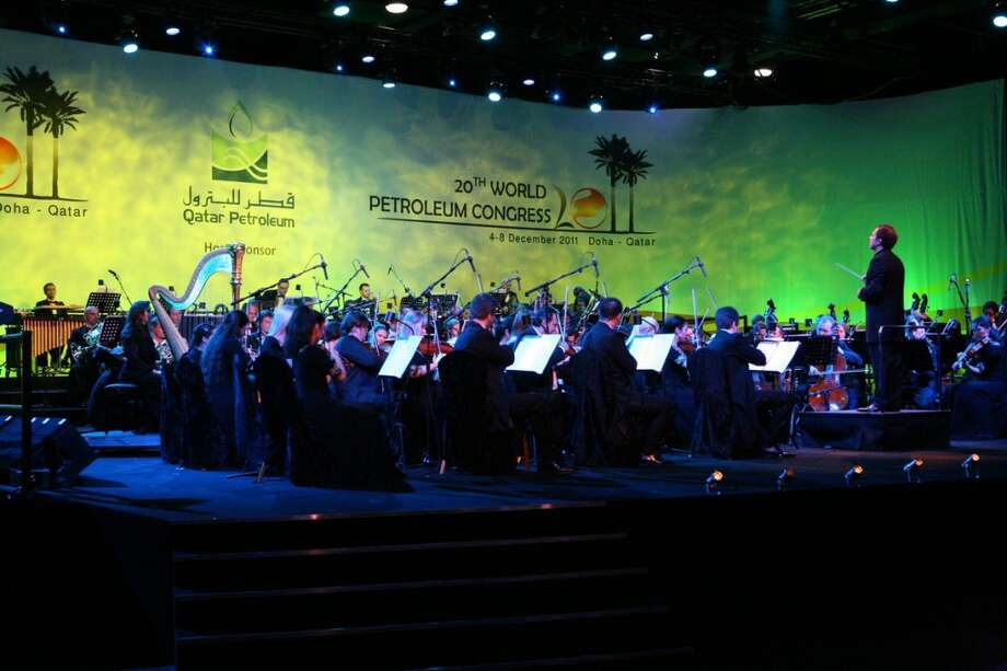 An orchestra plays at the opening ceremony of the 20th World Petroleum Congress in Doha Qatar on December 4, 2011. Photo: World Petroleum Congress