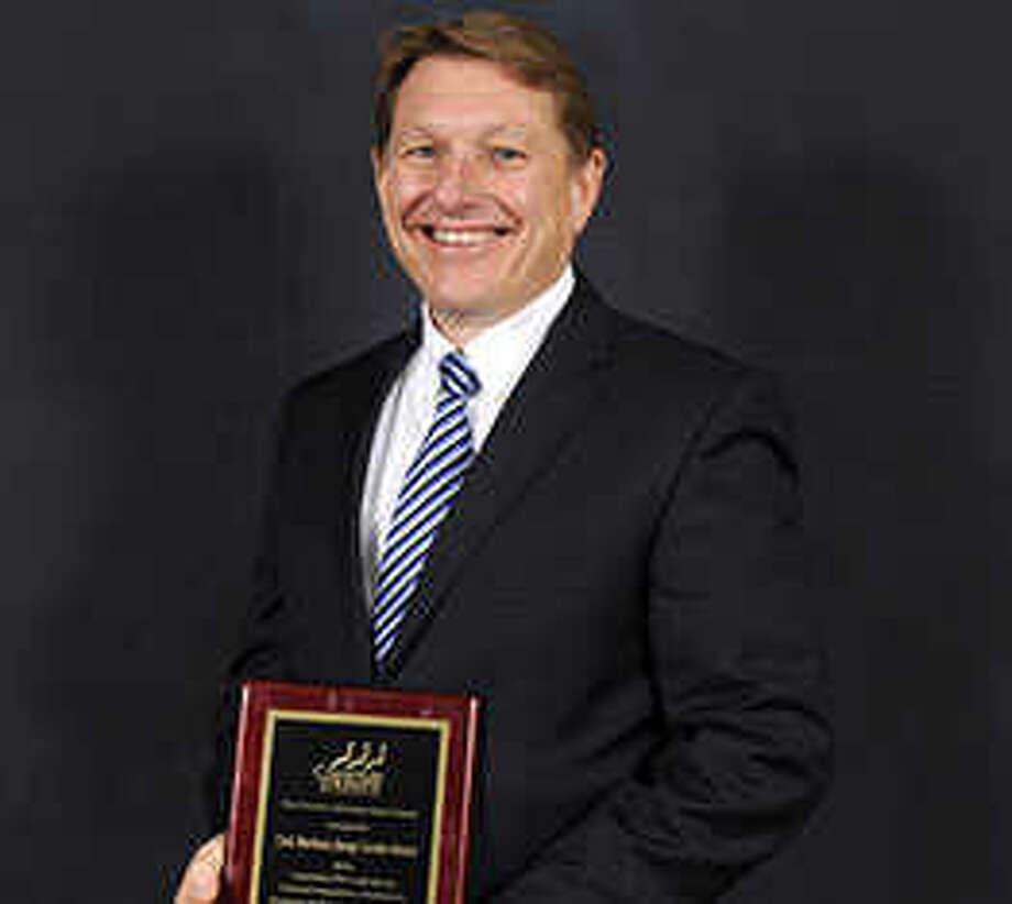Clark Martinson earned the Transportation Demand Management Leadership Award from the Houston-Galveston Area Council. Photo: Energy Corridor District