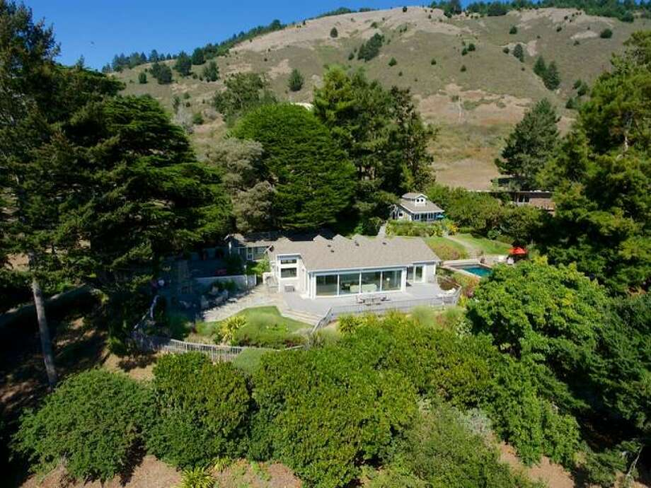 Jerry Garcia's 1.1-acre compound near Stinson Beach includes three buildings -- one that he used as a recording studio -- a pool, spa, deck and 180-degree views of the Pacific Ocean. Photo: Courtesy, Decker Bullock Sotheby