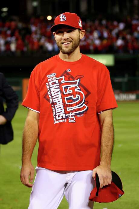 ST LOUIS, MO - OCTOBER 18:  Michael Wacha #52 of the St. Louis Cardinals celebrates after the Cardinals defeat the Los Angeles Dodgers 9-0 in Game Six of the National League Championship Series at Busch Stadium on October 18, 2013 in St Louis, Missouri.  (Photo by Elsa/Getty Images) Photo: Elsa, Staff / 2013 Getty Images