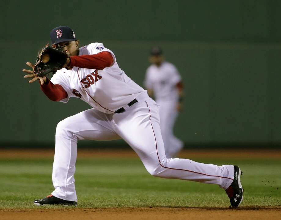 Red Sox's Xander Bogaerts fields a ground ball. Photo: Matt Slocum, Associated Press